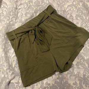 Express soft stretchy high waisted olive shorts